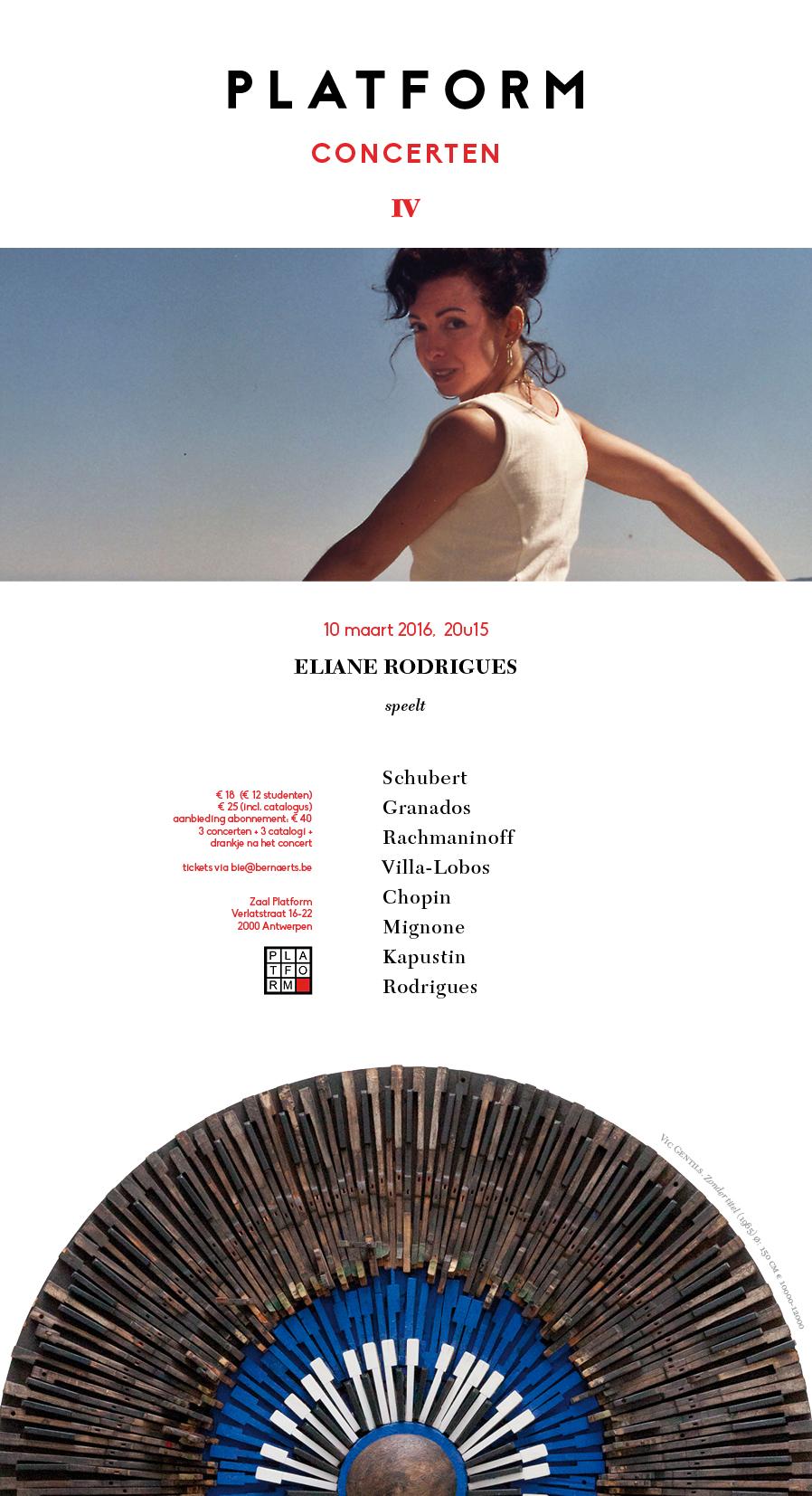 Eliane Rodrigues (piano) @ Platform | Antwerpen | Vlaanderen | België