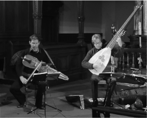 Didier François (nyckelharpa) en Philippe Malfeyt (renaissance luit, theorbe) @ Antwerpen | Vlaanderen | België