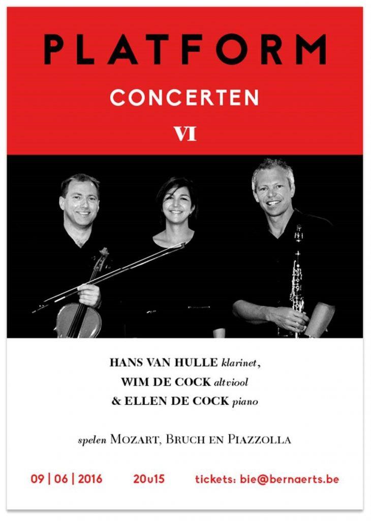Hans Van Hulle (klarinet), Wim De Cock (altviool) en Ellen De Cock (piano)